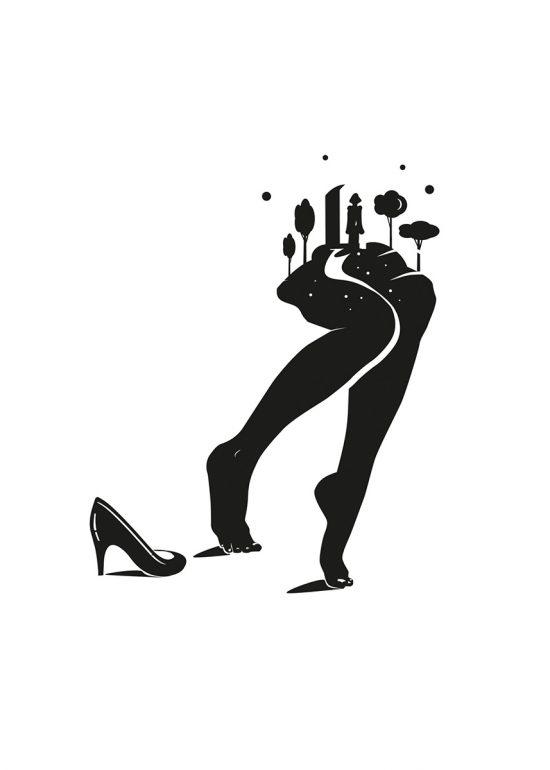 Sérigraphie Être une femme - illustration par Zig