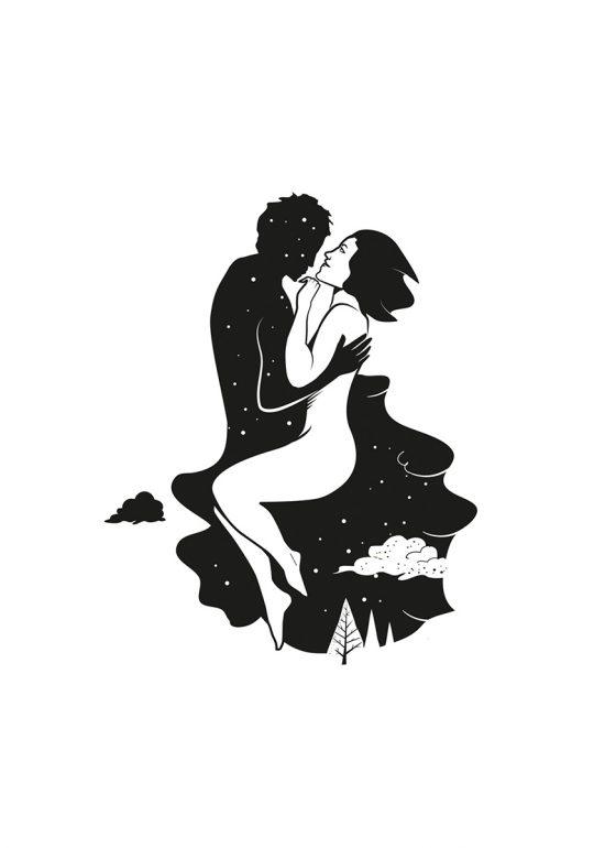 Sérigraphie Morceau de Vie - illustration par Zig