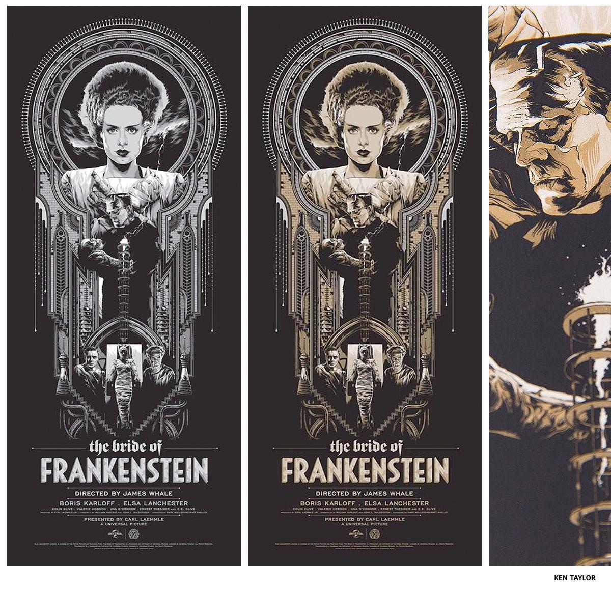 Frankenstein Ken Taylor affiche sérigraphie