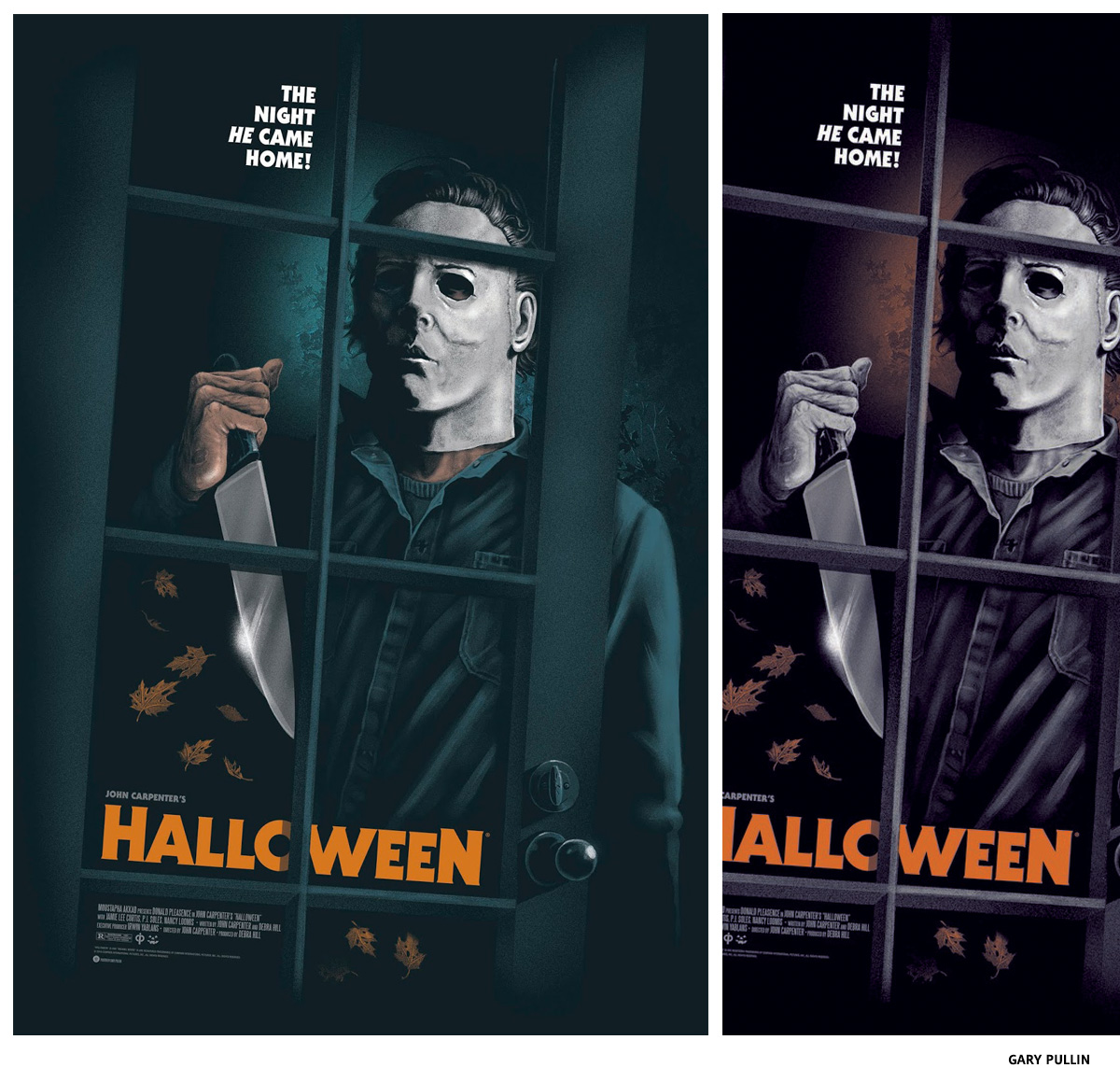 Garry Pullin Halloween sérigraphie affiche