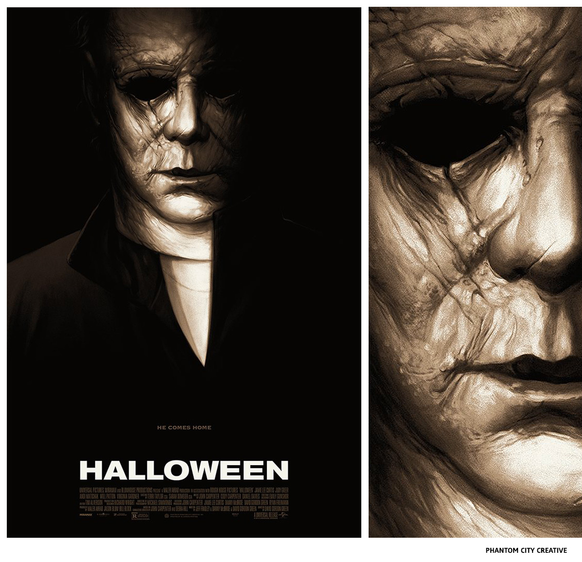 Halloween par Phantom City Creative sérigraphie affiche
