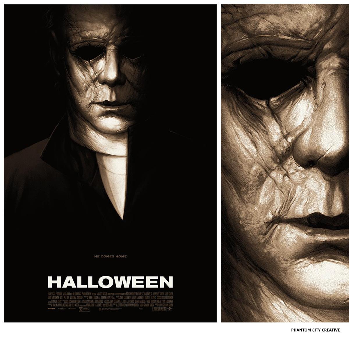 Halloween par Phantom City Creative sérigraphie affiche