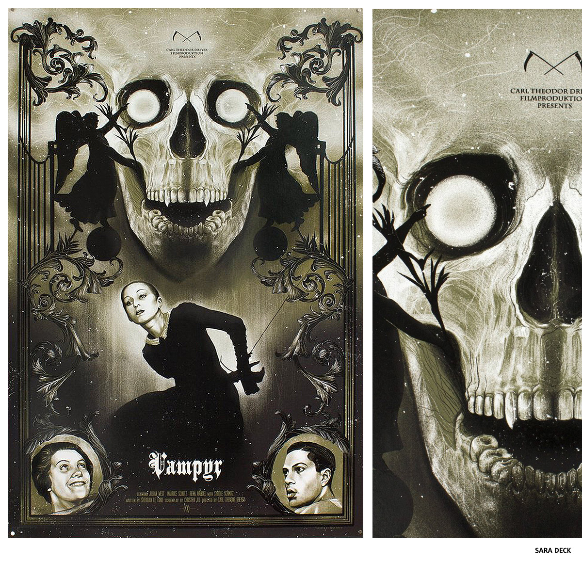 Vampyr par Sara Deck affiche sérigraphie