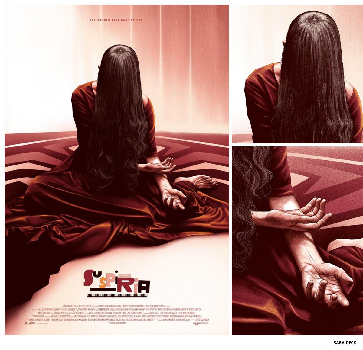 Suspiria par Sara Deck sérigraphie affiche