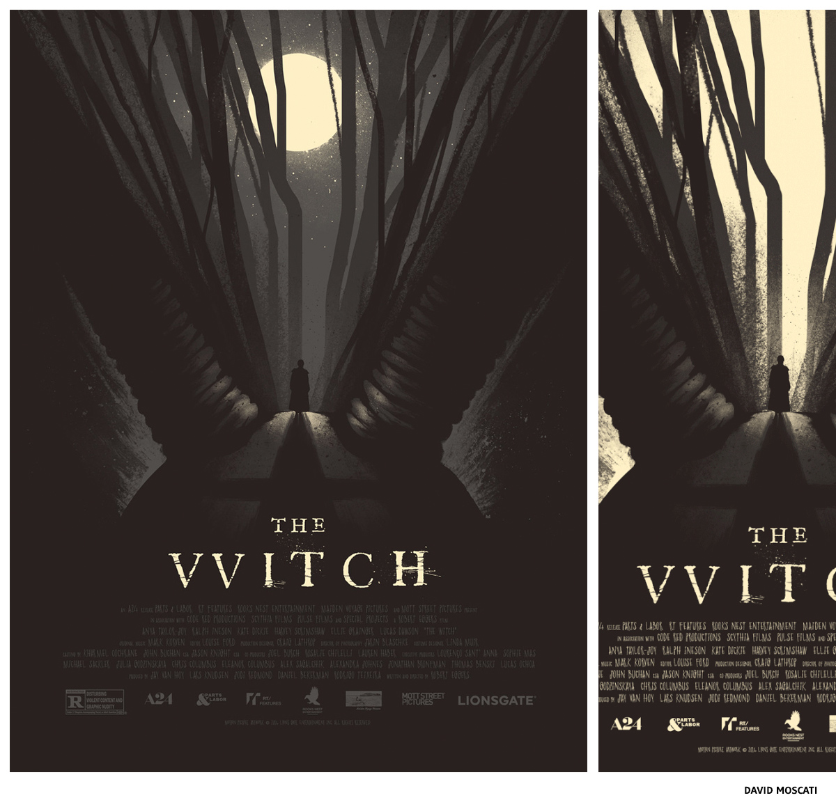 The Witch par David Moscati sérigraphie affiche