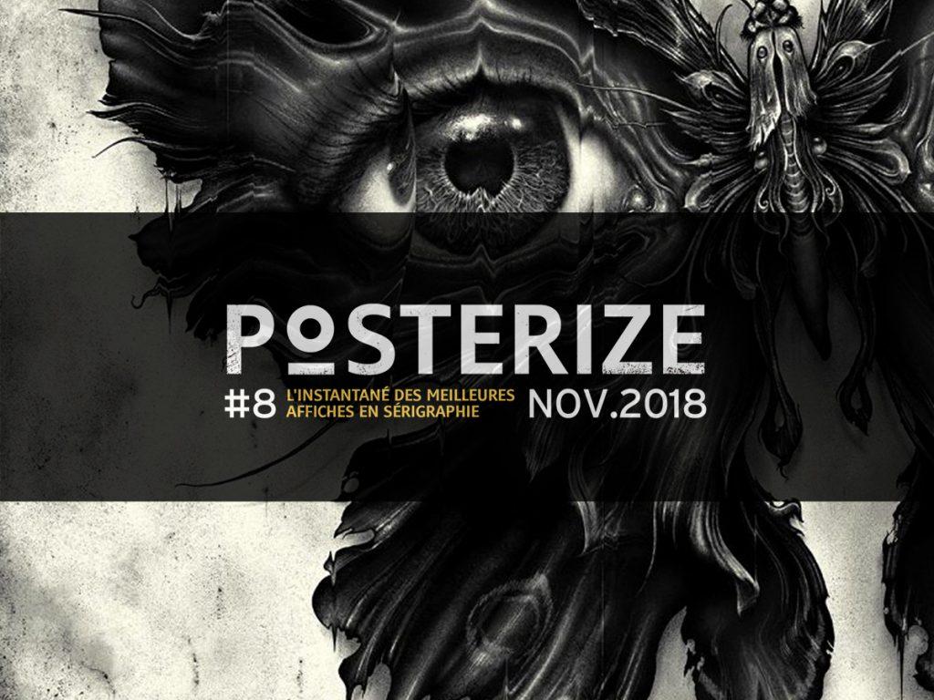 Les plus belles affiches imprimées en sérigraphie de monstres et films d'horreur Halloween Frankenstein