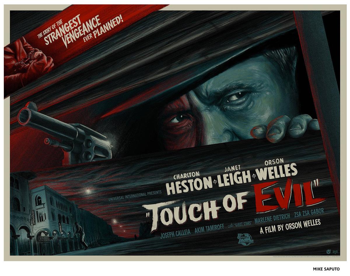 Touch Of Evil par Mike Saputo sérigraphie affiche