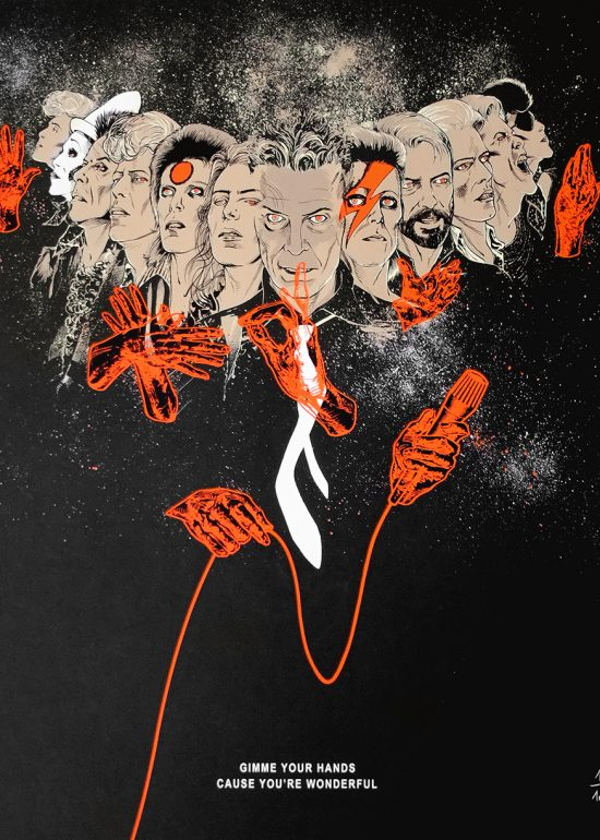 Affiche Bowie sérigraphie en édition d'art limitée