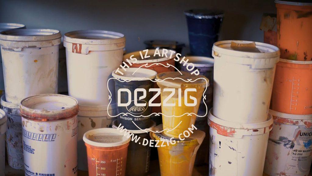 Film dans l'atelier de sérigraphie Dezzig