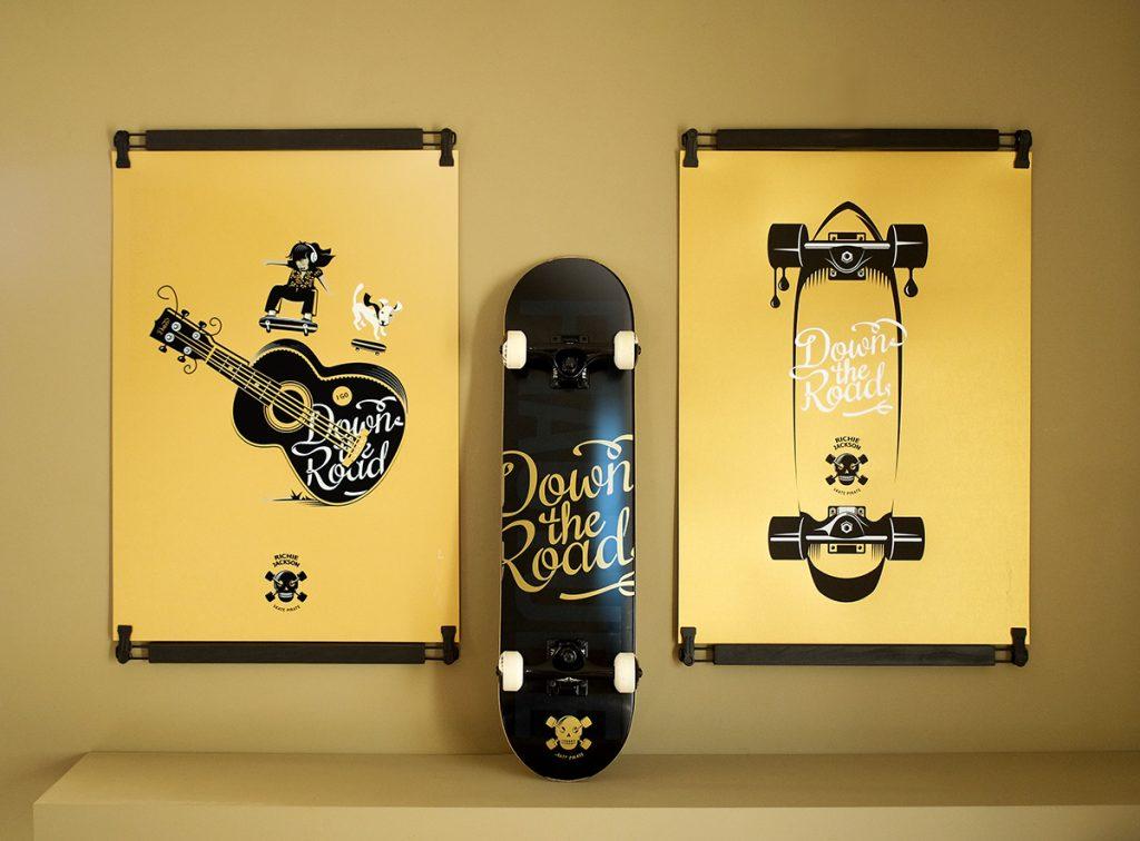 Deux sérigraphie Skate Pirate Richie Jackson