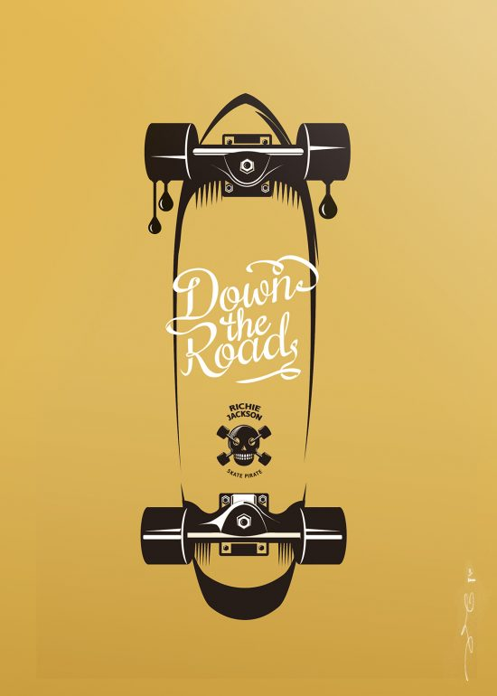 Affiche sérigraphie Skate Richie Jackson en édition d'art limitée
