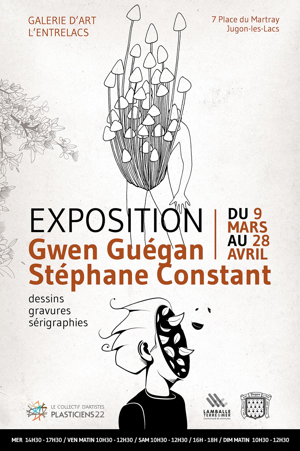 Exposition de sérigraphies Dezzig à Jugon-Les-Lacs