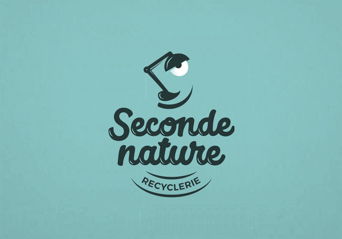 Identité graphique par Dezzig : Seconde Nature recyclerie