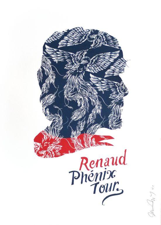 Affiche sérigraphie Renaud Phénix Tour