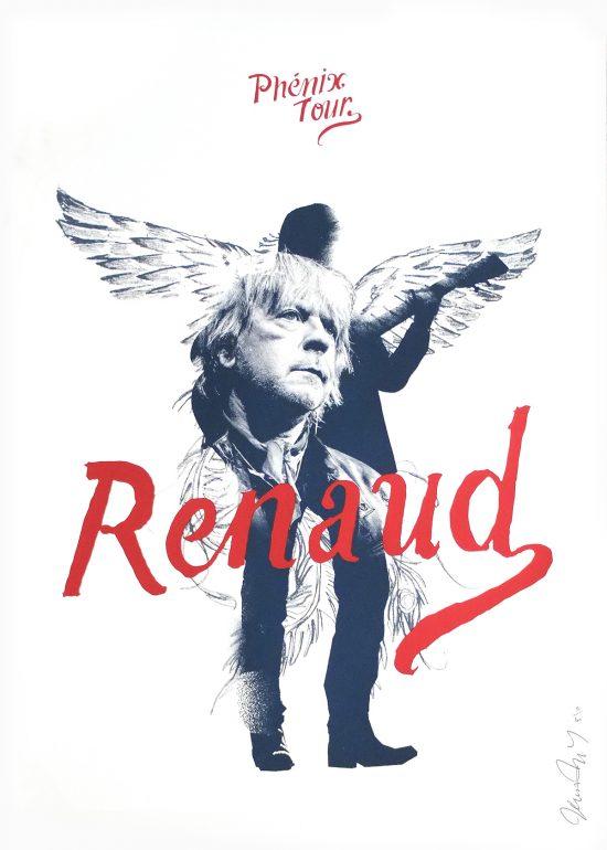 Affiche Renaud Sérigraphie Phénix Tour art graphique