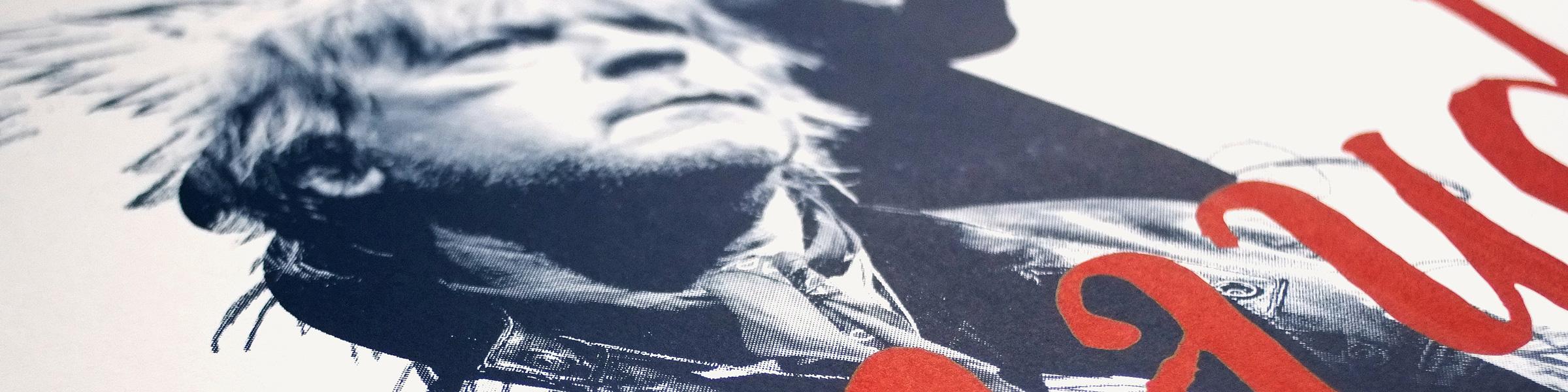 Affiche sérigraphie Renaud Phenix Tour édition d'art graphique