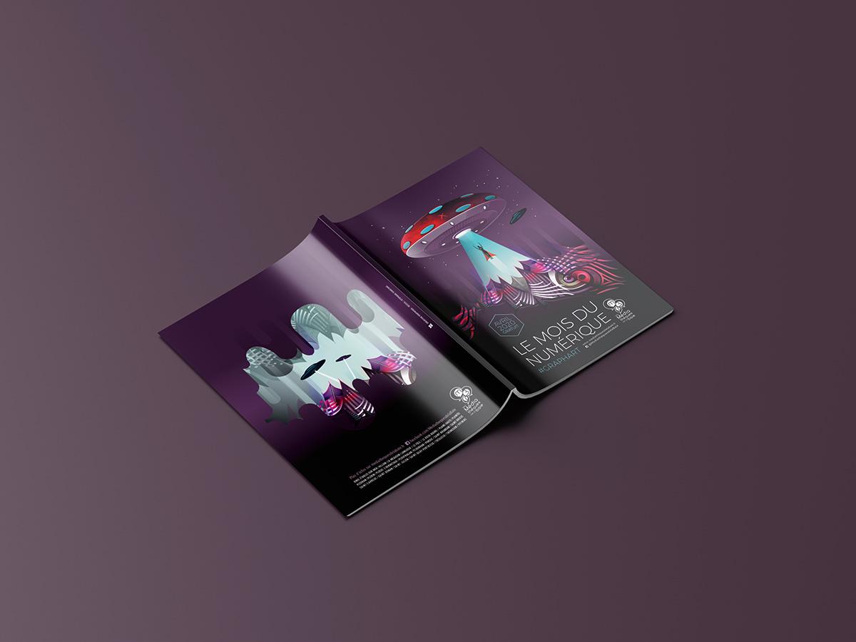 Programme Le Mois du numérique 2020 Illustration création graphique Dezzig