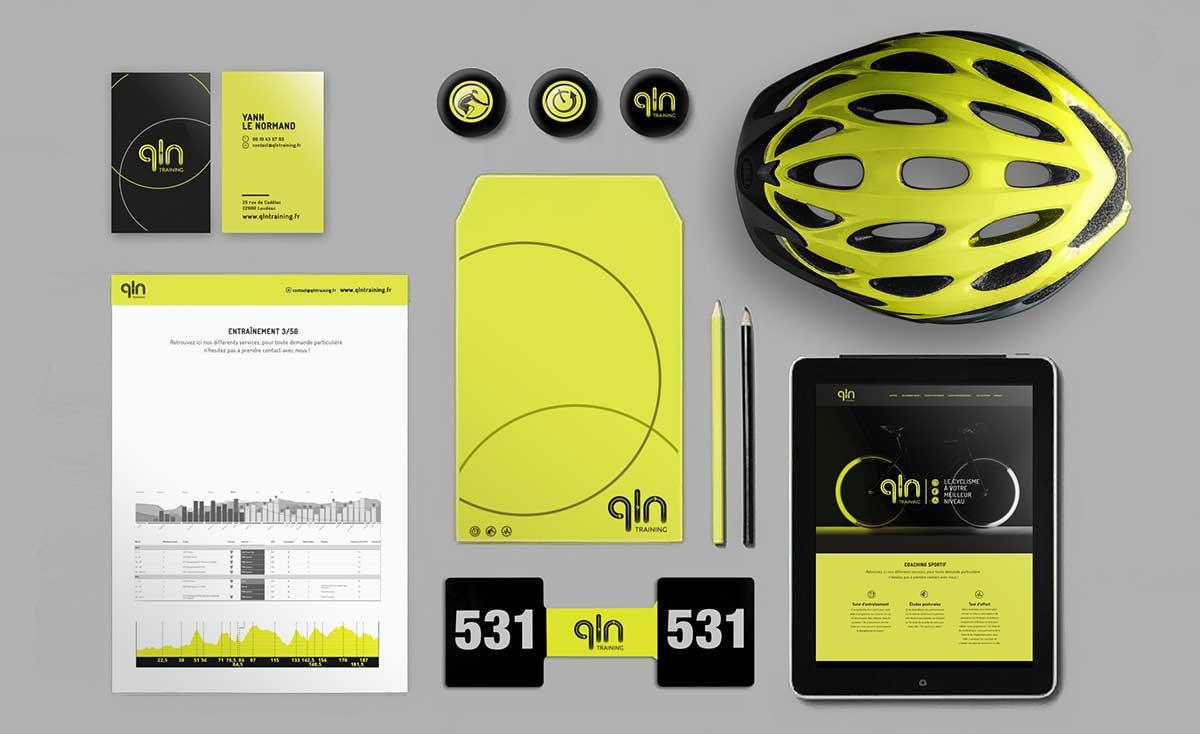 Identité graphise sport QLN training coaching cycliste