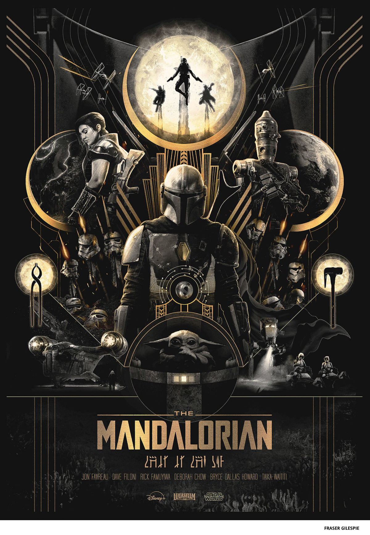 The Mandalorian by Fraser Gilepsie - science-fiction poster