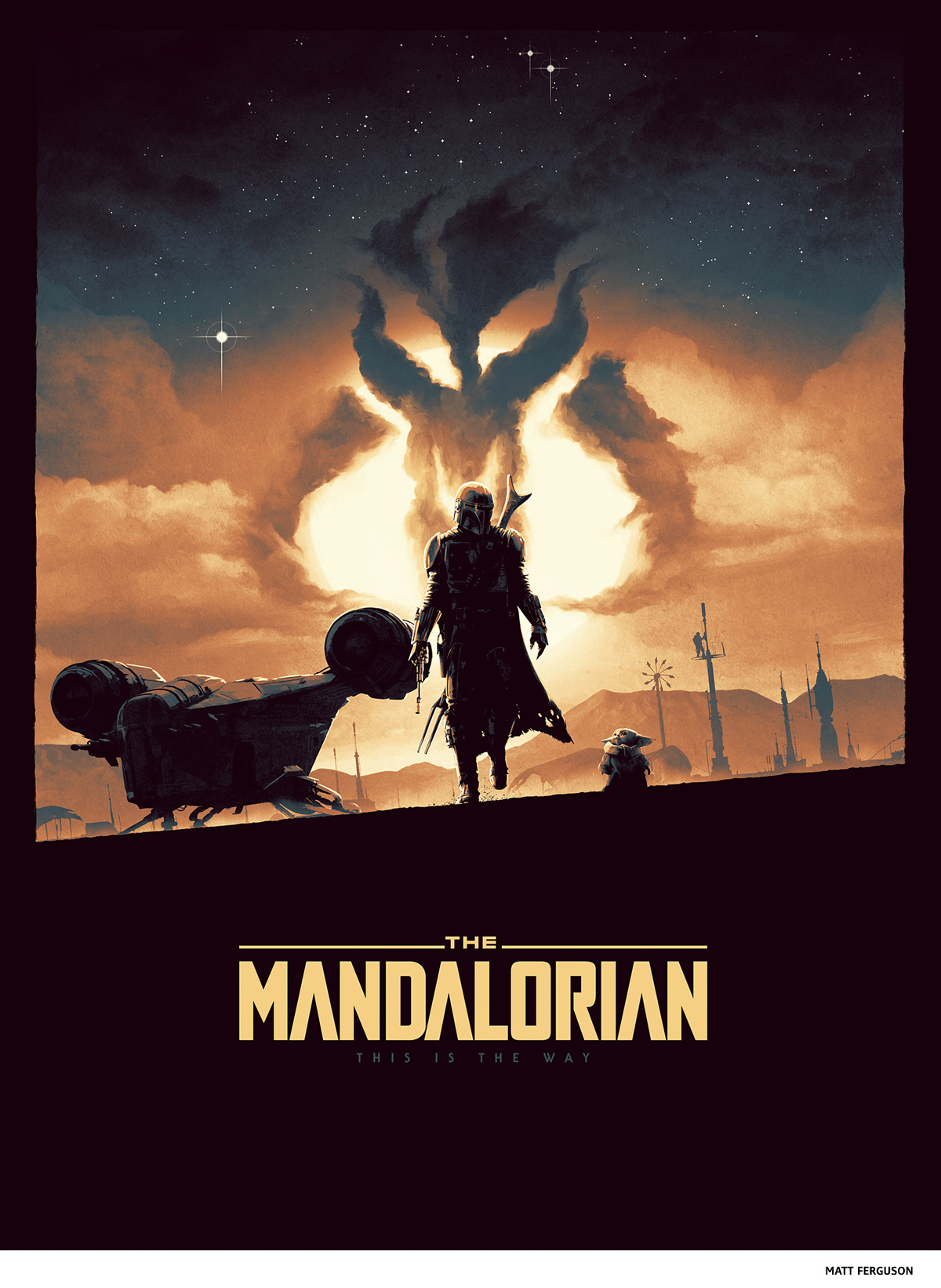 The Mandalorian by Matt Ferguson- science-fiction poster