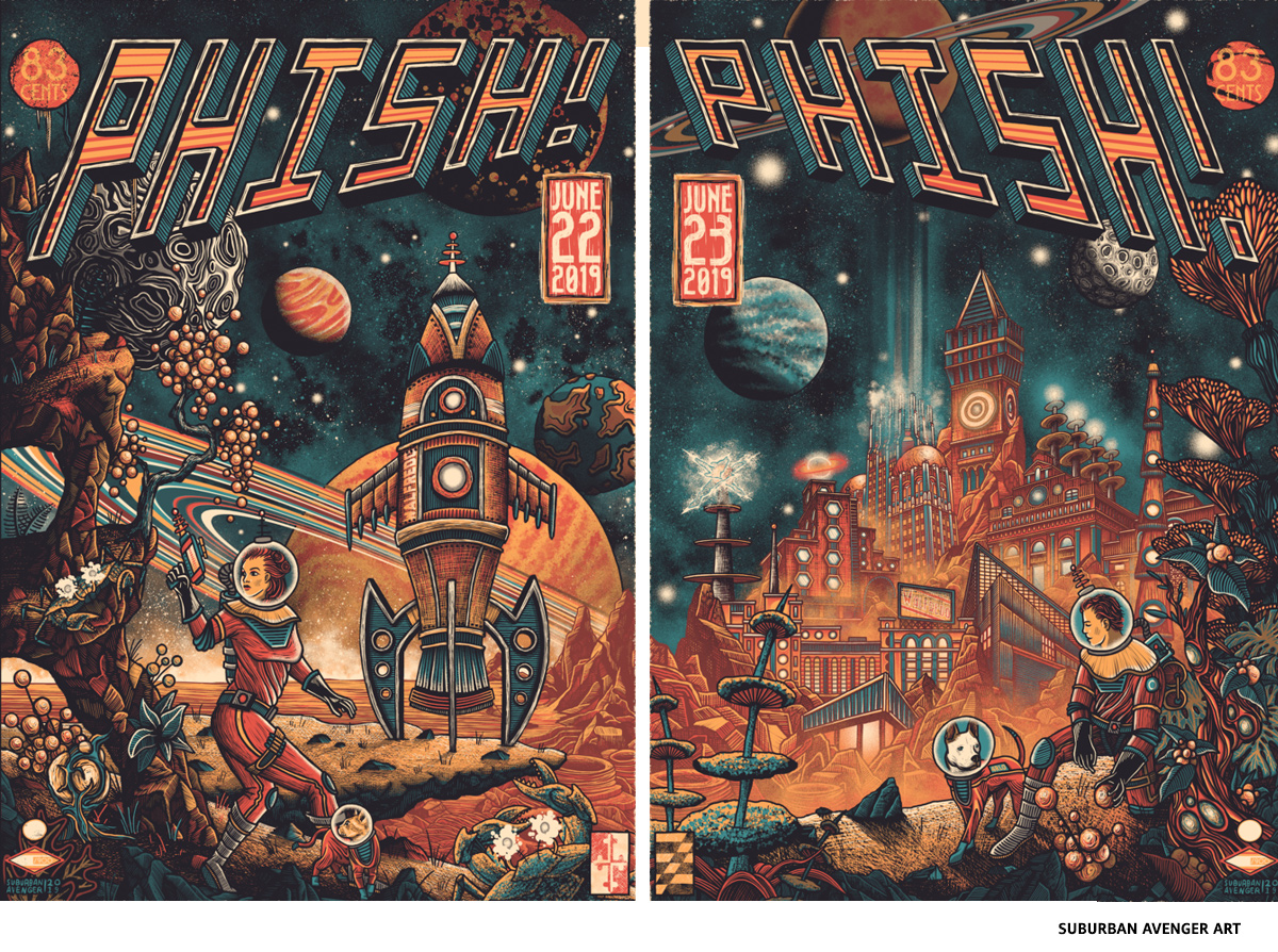 Phish by Suburban Avenger Art- science-fiction poster