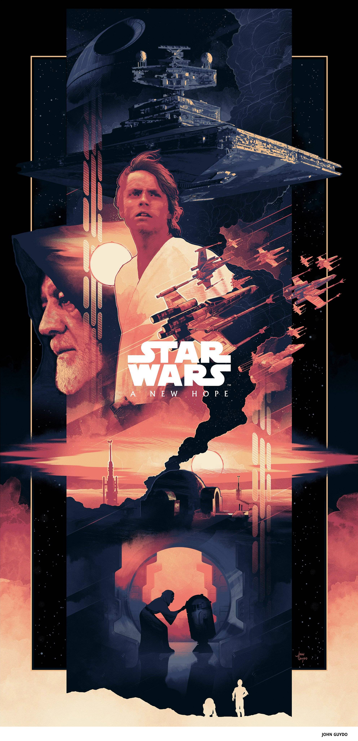 Star Wars by John Guydo- science-fiction poster