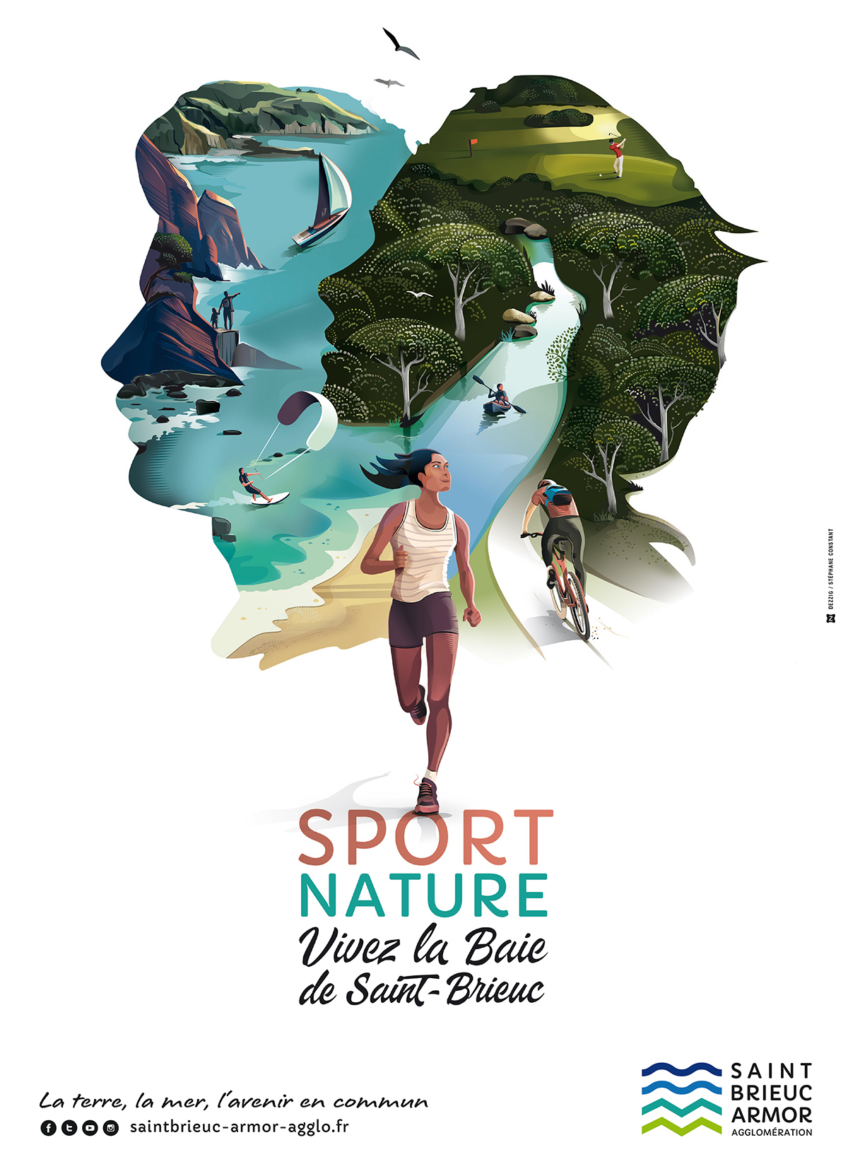 Illustration Sport Nature en Baie de Saint-Brieuc