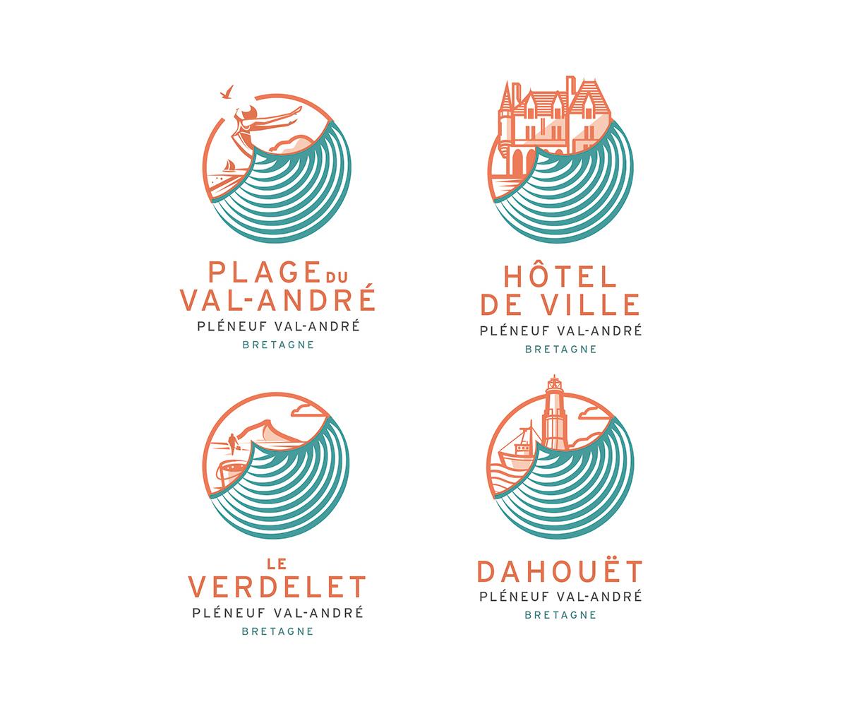 pictogrammes Pléneuf-Val-André