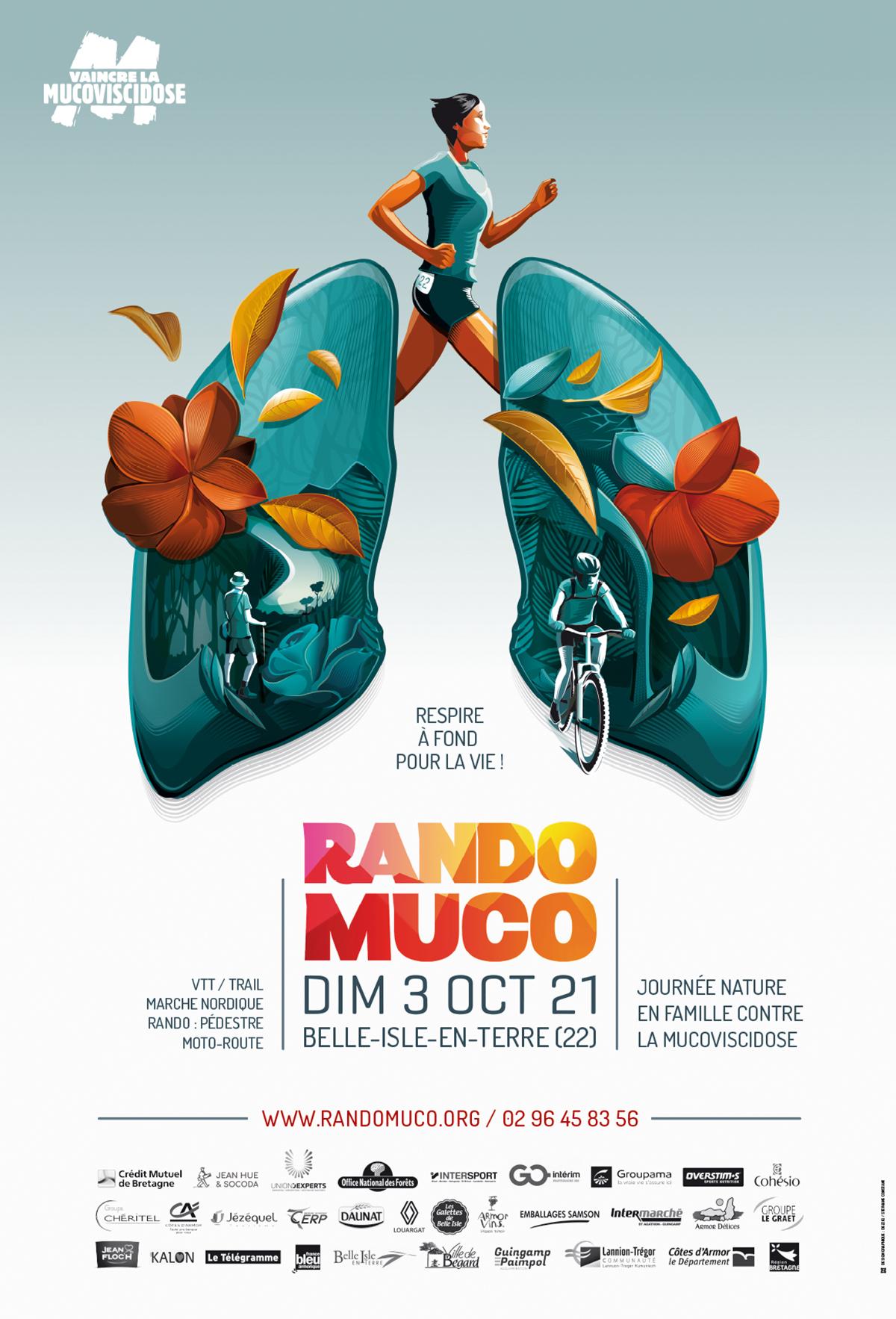 Affiche Rando Muco 2021 par Dezzig
