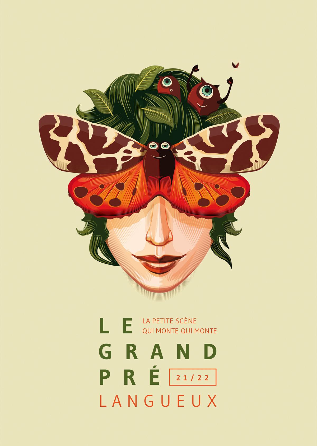 Visuel de saison 21-22 Le Grand Pré, par Dezzig