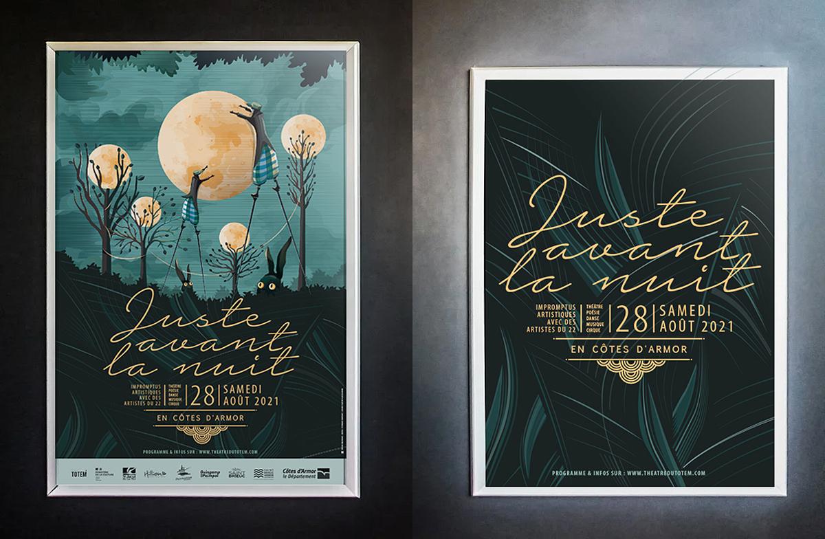 Affiche festival Juste Avant la nuit par Dezzig