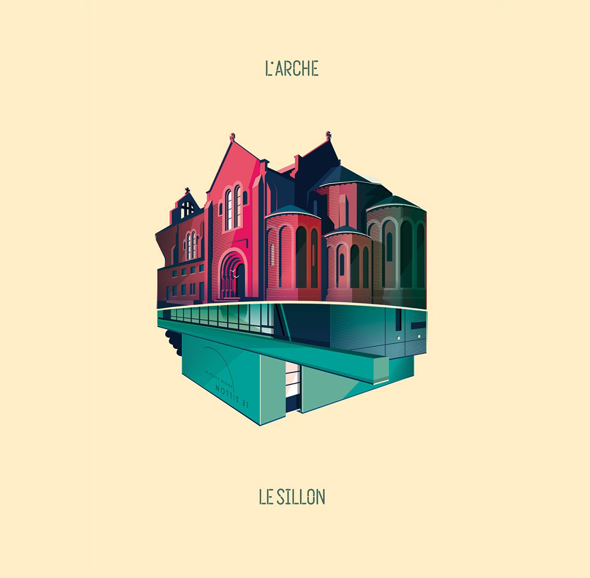 Illustration Arche Sillon par Dezzig